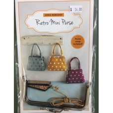 Retro Mini Purse - Pattern and Frame