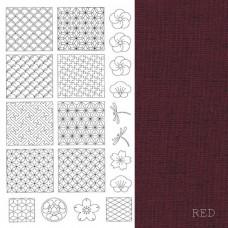 BeBe Bold Sashiko - Red