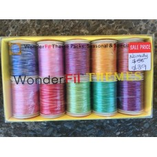 Wonderfil 100% Rayon Embroidery Variegated Threads - Pack B