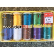 Wonderfil 100% Rayon Embroidery Plain Threads - Pack Bright