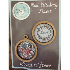 Mini Stitchery Frames x 2  As Round 1 1/2""