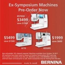 Bernina Ex-Symposium Machines BS70QE