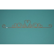 Rusty Heart Swirls - 18 inch